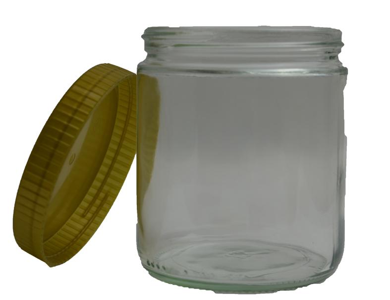 Honigglas 500gr mit PVC-Deckel