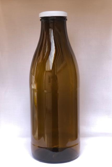 Braunglas Weithalsflasche 1000 ml